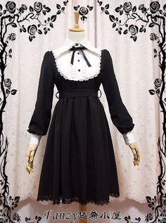 ★★★ Newly Added: Fanzy Wonderland **Teresa** Long Sleeves Lolita OP Dress ★★★ Only $37.99 >> http://www.my-lolita-dress.com/fanzy-wonderland-teresa-long-sleeves-lolita-op-dress-fw-1