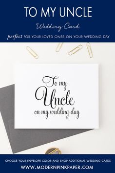 Wedding day cards, To my uncle, To my on my wedding day