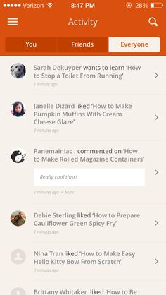 Snapguide · Activity Feeds