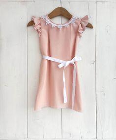 Baby chiffon dress baby ceremony dress toddler di FillesEnFleur