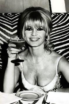 Celebrating in New York after finishing the film Viva Maria on December 19, 1965.