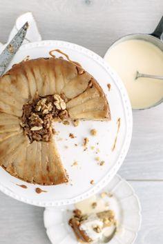 ginger & pear upside down cake