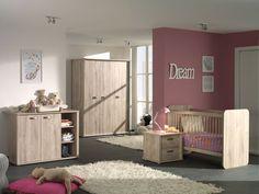 ELVIA -Créez pour vos petits enfants un espace de jeu et de vie avec la superbe chambre bébé Elvia. Cette collection est en plus composée d'un lit évolutif qui grandit en même temps que votre enfant | Meubles Toff