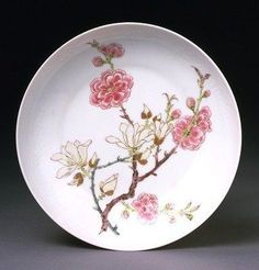 Dish, porcelain painted in coloured enamels, Beijing, China, Qing dynasty, Yongzheng reign period, 1723-1735.