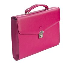 Laurige Ladies Fuchsia Leather Business Bag