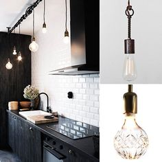 Naked Lighting: The Best Bare Bulb Options When we stumbled upon this kitchen featured in Swedish design glossy Sköna Hem we knew one thing for sure: we needed to replicate that lighting situation! Not exactly your typical task lighting, we think this bare bulb setup would feel equally fresh and unexpected in any room in the house.