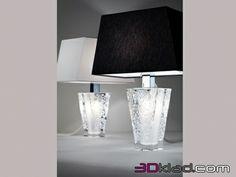 3d модель настольный светильник D69 B03 01 Fabbian
