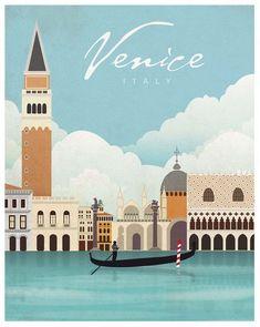 The Goonies Movie Chunk Truffle Shuffle Poster Print - Poster Print, Venedig Italien Pla Retro Poster, Poster Print, Poster Wall, Art Print, Vintage Italian Posters, Vintage Travel Posters, Venice Travel, Italy Travel, Venice Map
