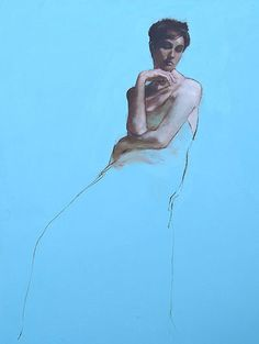 Mark Demsteader Erin Seated II Oil on canvas x Portraits, Portrait Images, Portrait Art, Mark Demsteader, Human Drawing, Life Drawing, Powerful Art, Charcoal Art, Beautiful Sketches
