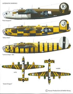 B-24 Assembly Ships - as only the lead ships did navigation, the assembly ship's job was to be as visible as possible, so the other 24s could find it at take-off. They would then follow the lead ship to the target. The assembly ship was usually a plane deemed not combat-worthy and used only as a visual aid.. CLICK the PICTURE or check out my BLOG for more: http://automobilevehiclequotes.tumblr.com/#1506240748