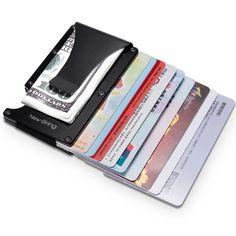 Metal Mini Money Clip Brand Fashion Black White Credit Card ID Holder With RFID