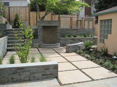 back yard concrete patio ideas | square concrete tile design ideas ... - Modern Patio Ideas