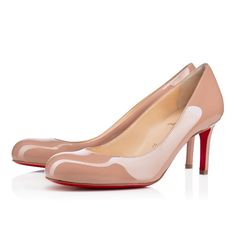 Christian Louboutin simple pump Nude 70mm Patent Leather Womens High pumps