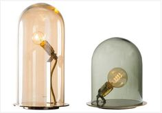 Lampe Speak up and Lampe Glow in a dome by Ebb & Flow