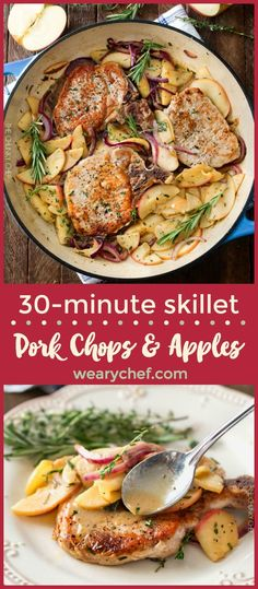 The next time you're looking for a great weeknight meal that's ready in a flash, give these pork chops with apples and onions a try!