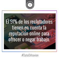 #ReputaciónOnline #DatoDifraxion #Reclutamiento