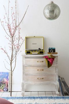 Plum & Bow Mini Dresser - Urban Outfitters (for inspiration - whitewashed mango) Furniture Update, Bedroom Furniture, Home Furniture, Essential Oil Storage Box, Piano Stool, Floating Nightstand, Cleaning Wipes, Vintage Inspired, Dresser