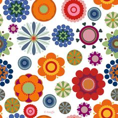 colorful pattern So gorgeous!! Could be used as a wall paper...