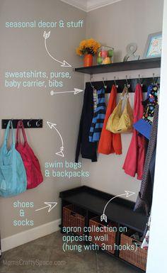 "Kitchen ""Mud Room"" Nook Makeover ~ Mom's Crafty Space"