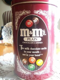 M & Ms by Mars Incorporated  Collectible Vintage Tin by vertzvkv, $15.00