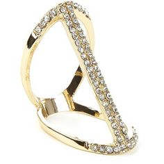 Sole Society Linear Crystal Ring