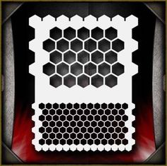 Honeycomb-Airbrush-Stencil-Template-Airsick