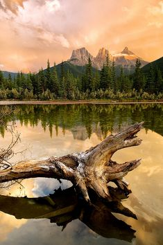 Three Sisters Sunset, Alberta Canada by Michael**