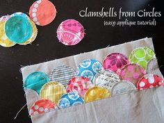 Hello friends! Yesterday, while I was down with the flu, I had clamshells on the mind. I researched different ways to make clamshells and came across this tutorial which uses circles to make a cla