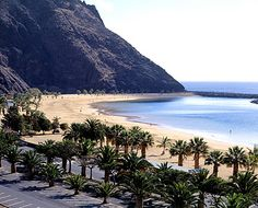 Tenerife - this beach made of sand brought back from Sahara.