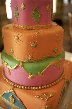 My indian inspired wedding cake...