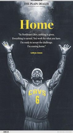 The LeBron James-is-coming-home front page of Saturday's Cleveland Plain Dealer