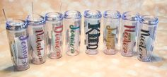 Special vacation or trip tumblers. $15 each.