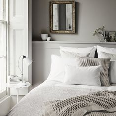 the white company grey bedroom The White Company, Casa Milano, Deco Zen, Bed Linen Design, Bed Sets, Cool Beds, Bedroom Styles, Home Bedroom, Bedroom Ideas