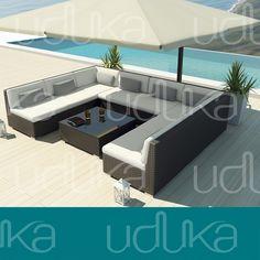Uduka McDuka 9 Outdoor Sectional Patio Furniture Sofa Set