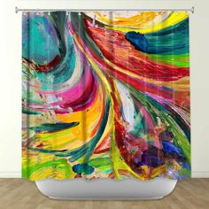 Shower Curtain Artistic Designer from DiaNoche Designs by Rachel Brown Home Décor and Bathroom Ideas - Synesthesia DiaNoche Designs,http://www.amazon.com/dp/B00E3NX0FC/ref=cm_sw_r_pi_dp_Awo5sb03AGH7F7V6