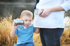 Cute Expecting Sibling Portrait Idea, Big Brother, Maternity Photos
