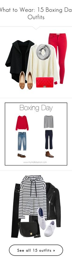 """What to Wear: 15 Boxing Day Outfits"" by polyvore-editorial ❤ liked on Polyvore featuring waystowear, boxingday, Pieces, H&M, Chanel, John Lewis, Boden, J.Crew, Zara and Topshop"