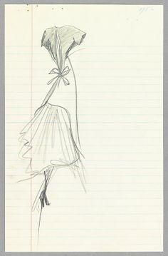 Sketch Charles James (American, born Great Britain, 1906–1978) Date: 1956