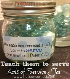 Idea to go along with summer service project-each service they did for another earns them a bead