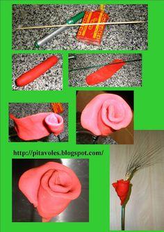pitavoles: Roses de Sant Jordi amb plastilina