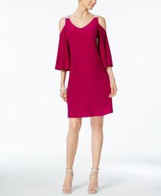 MSK Embellished Cold-Shoulder Dress | macys.com