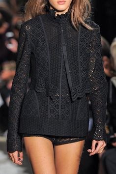 The black lace cropped jacket