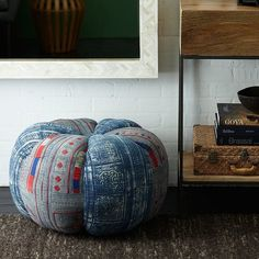 The Ultimate Fall Decor Guide: Found Thai Pouf ($249)