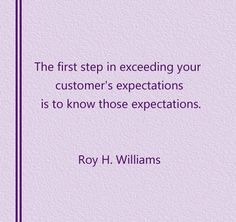 Exceed your customer expectation