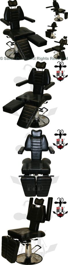 Other Tattoos and Body Art: Inkbed Brand Tattoo Black Reclining Hydraulic Ink Chair Salon Parlor Equipment -> BUY IT NOW ONLY: $299.99 on eBay!
