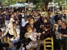 Histoire de l'art - Les mouvements dans la peinture - L'impressionnisme - Pierre Auguste Renoir - 1876 - Le moulin de la Galette