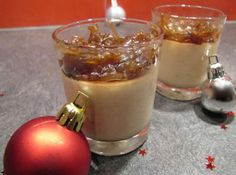 Panna cotta au foie gras et son confit doignons maison Panna Cotta, Sweet Pastries, Xmas Food, Food Design, Sweet Tooth, Food And Drink, Yummy Food, Stuffed Peppers, Cooking