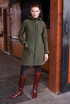 The All Weather Rider Jacket in Olive Green....so elegant.