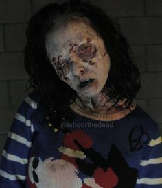 Horror Society: Amazing Zombie Make-up Art by Sidney Cumbie.|CutPasteStudio| Illustrations, Entertainment, beautiful,creativity, Artist, Art, artwork, fashion, makeup art.