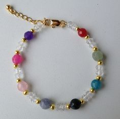 chinese crystal and colorful jade bracelet pulseira de cristal chines e jade colorida